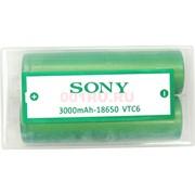 Аккумулятор SONY 18650 VTC6 3000 mAh цена за 2 шт