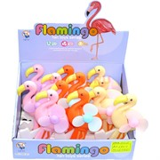 Игрушка ручной (FAN-4) вентилятор Фламинго 12 шт/уп