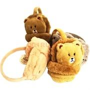 Утепленные наушники (F2-25) мишки 10 шт/уп