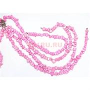 Нитка бусин из розового коралла 62 шт