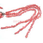 Нитка бусин из красного коралла 62 шт