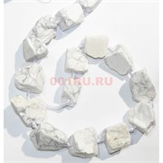 Нитка бусин 44 см из белого кахолонга 16 камней