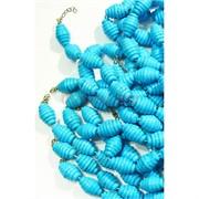 Нитка бусин из голубой бирюзы в виде 7 сегментов 17 бусин