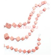 Нитка бусин из розового коралла 27 бусин
