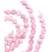 Нитка бусин из розового коралла круглые 28 бусин