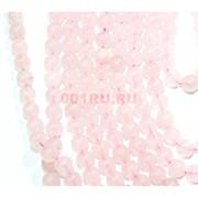 Нитка бусин 6 мм из розового кварца 69 бусин