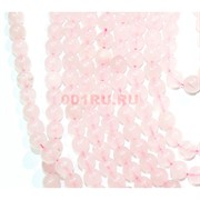 Нитка бусин 14 мм из розового кварца 28 бусин