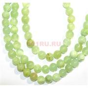 Нитка бусин 12 мм из светло-зеленого агата 32 бусины