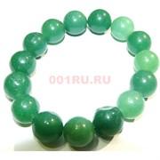 Браслет из темно-зеленого нефрита 8 мм