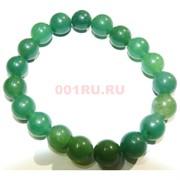 Браслет из темно-зеленого нефрита 10 мм