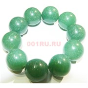 Браслет из темно-зеленого нефрита 20 мм