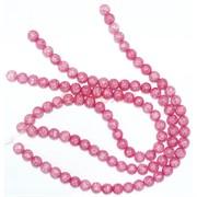 Нитка бусин 8 мм из розового сахарного кварца