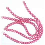 Нитка бусин 12 мм из розового сахарного кварца