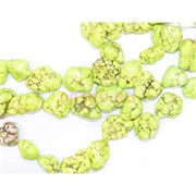 Нитка бусин из необработанной иранской бирюзы 15 шт