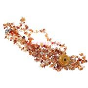 Бусы из сердолика с цветком из сердолика