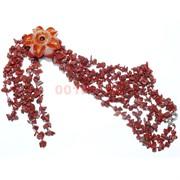Бусы из яшмы и цветком из сердолика