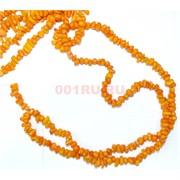 Нитка бусин из желтого коралла 97 шт неправильной формы