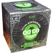 Уголь кокосовый QOCO Turbo Flat плоский 45 шт
