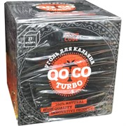 Уголь кокосовый 25 мм QOCO Turbo кубик 27 шт