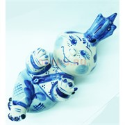 Фигурка луковица гжель 6,5 см из керамики