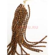 Бусины Дзи темно-коричневые 3 глаза цена за нитку из 30 бусин