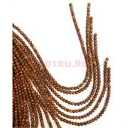 Бусины коричневые 6 мм цена за нитку из 30 бусин