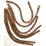 Бусины коричневые 3 глаза 12 мм цена за нитку из 30 бусин