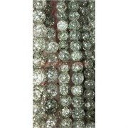 Бусины из сахарного кварца светло-зеленые 10 мм цена за нитку из 50 шт
