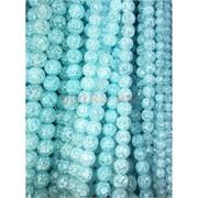 Бусины из сахарного кварца голубые 10 мм цена за нитку из 50 шт