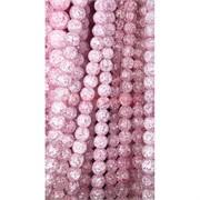 Бусины из сахарного кварца темно-розовые 10 мм цена за нитку из 50 шт