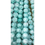 Бусины из сахарного кварца светло-голубые 10 мм цена за нитку из 30 шт