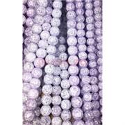 Бусины из сахарного кварца фиолетовые 10 мм цена за нитку из 30 шт