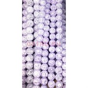 Бусины из сахарного кварца фиолетовые 12 мм цена за нитку из 35 шт
