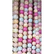 Бусины из сахарного кварца разноцветные 10 мм цена за нитку из 50 шт