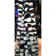 Агат серо-бело-черный галтовка 24-25 шт