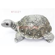 Фигурка черепаха (W72127) полистоун серебро 16 см