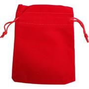 Чехол подарочный замша 9x12 см красный 50 шт/уп