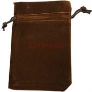 Чехол подарочный замша коричневый 7x9 см 50 шт/уп