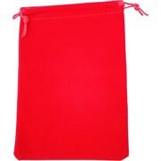 Чехол подарочный замша красный 13x18 см 50 шт/уп
