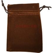 Чехол подарочный замша коричневый 13x18 см 50 шт/уп