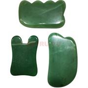 Массажер из зеленого авантюрина большой разных форм в ассортименте