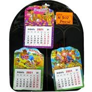 Магниты Бык (KL-3077) календарь Символ 2021 года 2400 шт/кор