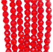 Нитка бусин из красной шпинели 3 мм
