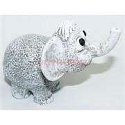Слон 8 см из мраморной крошки ручная работа
