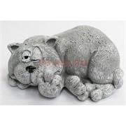 Фигурка сонного кота из мраморной крошки