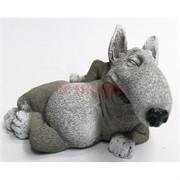 Фигурка сонный бультерьер из мраморной крошки
