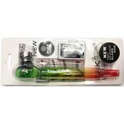 Трубка курительная D&K (8328FC) цветная стеклянная