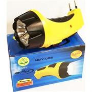 Фонарик Космос NGY-009 LED 4 светодиода с зарядкой от сети (кадмиевый аккумулятор)
