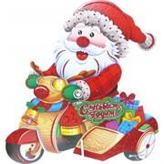 Картинка Дед Мороз (SMR-K2097) новогодняя на подставке 10 шт/уп