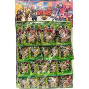 Игрушки на листе Brawl Stars 60 в зеленой упаковке 20 шт/уп